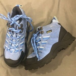 Boys or Girls Blue and Black Hiking Boots
